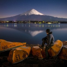 Mount Fuji by Moonlight
