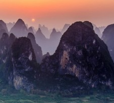 Sunset at Xingping